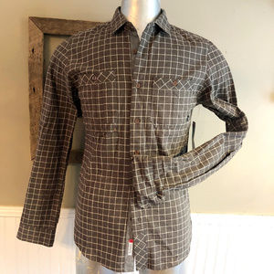 NWT Men's Split Co. USA Flannel Long Sleeve Button